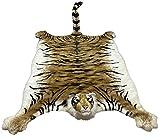 Gigante Tigre Marrone Pelle Sintetica Tappeto in Peluche 200x135cm,Copridivano,Copriletto