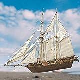 Surakey Modelo de barco de madera de velero, modelo de barco de madera, kit de decoración de maqueta de madera, kit de construcción de barco, modelo de madera, regalo para niños, niños y adultos