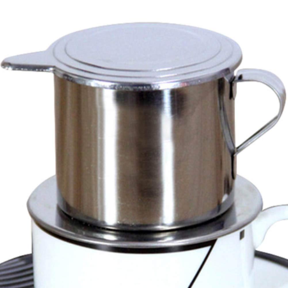 ypypiaol 50/100 Ml Estilo Vietnamita De Acero Inoxidable Cafetera Filtro De Goteo Olla Infusión Taza Simple 1# 100ml: Amazon.es: Hogar