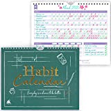 Clever Fox Habit Calendar – Inspirational Habit Tracker for Atomic Habits – Colorful Habit & Goal Planner Journal to Boost Productivity & Become Your Best Self – 24 Months, 10″ x 8″ (Obsidian Green)