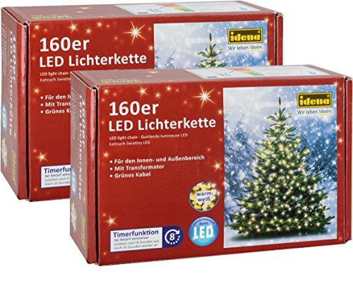 Idena 8325069rete di luci a LED esterno bianco caldo da 160pezzi