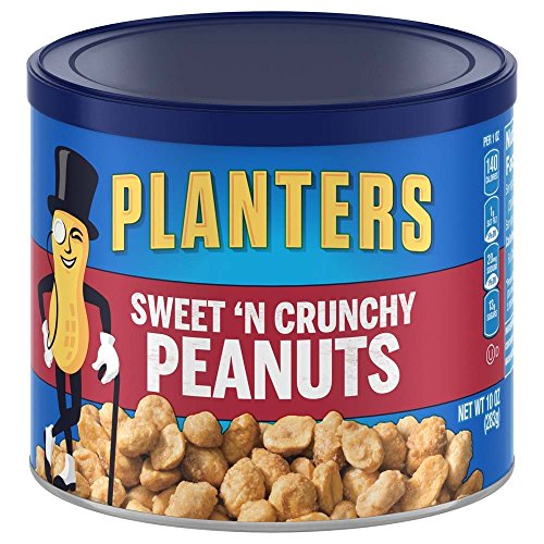 Planters Sweet N' Crunchy Peanuts, 10 oz Canister , Pack of 6 -$14.54(52% Off)