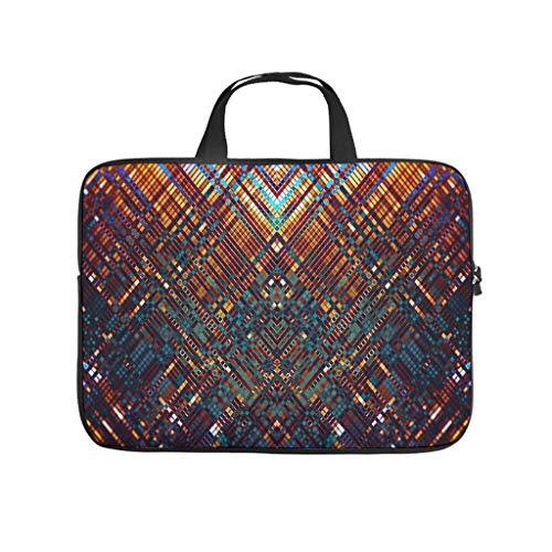 Geométrico diamante enrejado colorido bolso del ordenador portátil patrón caso bolso suave...