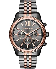 From jet setting adventures to the 9 to 5 grind, the iconic Lexington watch collection by Michael Kors provide luxurious style with a modern splash of trend-right touches Featuring a 44mm case, 22mm band width, scratch-resistant mineral crystal glass...