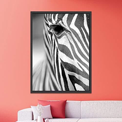 Wenqike Póster de Arte de Pared Animal Africano Cebra impresión nórdica Arte de Pared Pintura escandinava decoración Imagen Moderna Sala de Estar 40x60cm