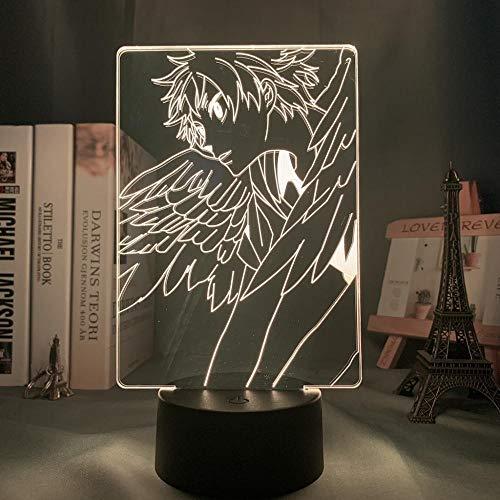 Luz de noche 3D acrílico Led Anime Haikyuu Shoyo Hinata figura para decoración de dormitorio de niños Noche Manga Gadget Mesa para niños-Dm149_16_Color_With_Remote