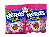Nerds Gummy Clusters - Two 5 ounce bags of Fresh Delicious Chewy Candy with Refrigerator Magnet by Emporium Candy
