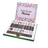 Aufkleber-Set passend für Merci Schokolade zum Muttertag -Beste Mama- mit vorgedruckten und blanko Aufklebern I selbstklebend I kreative Geschenk-Idee I Individuell I ohne Schokolade I dv_785