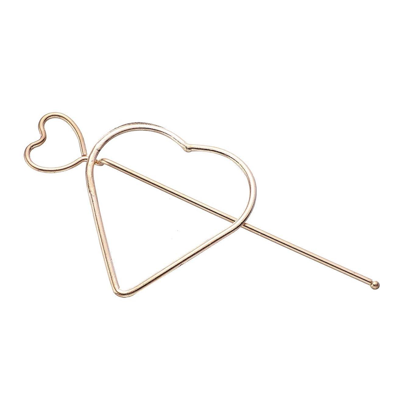 シンカン現れるカスケードLURROSE 女性のための中空の愛の心のヘアスティックメタルヘアアクセサリーヘアクリップ女の子(愛の心)