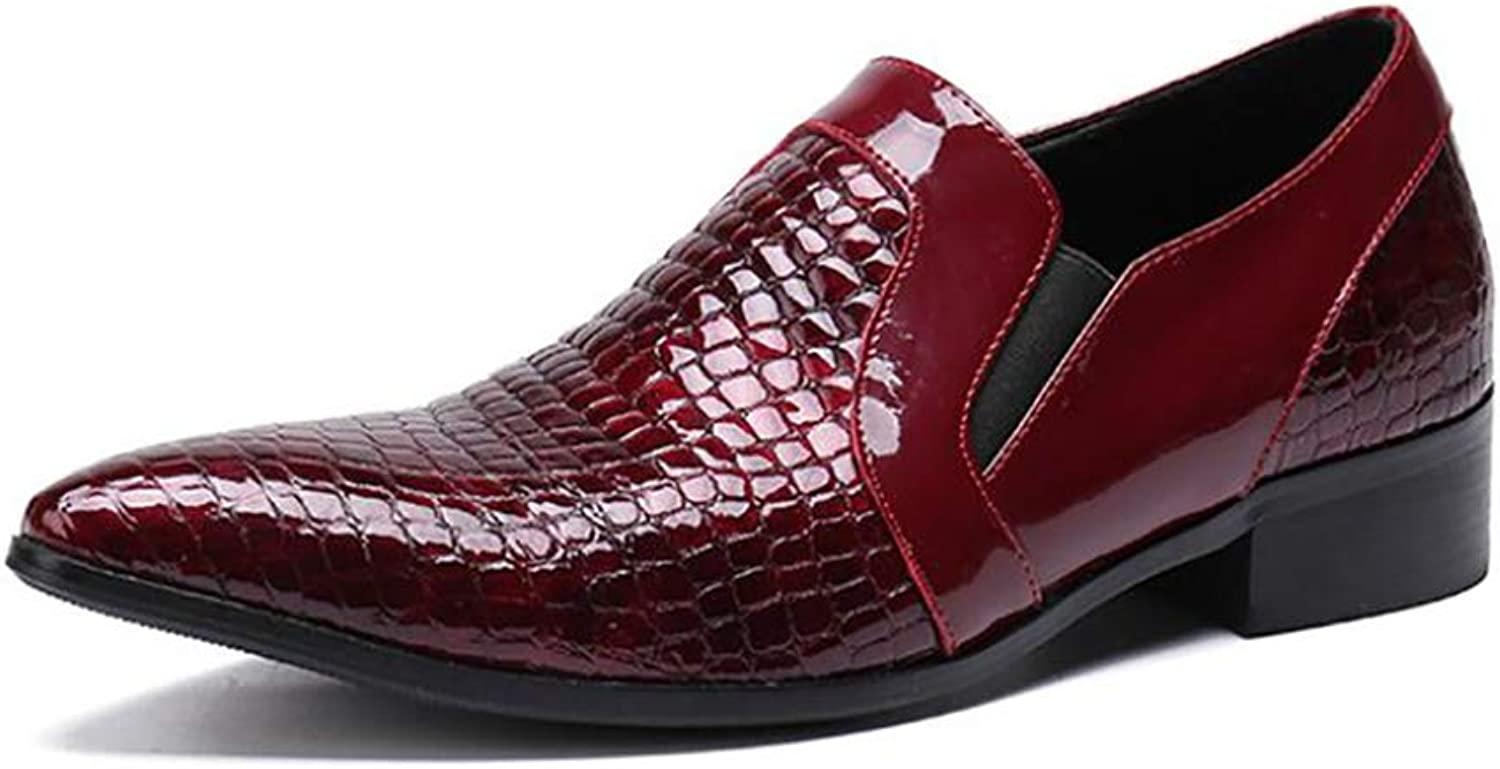 Mens Business shoes,Fashion Pointed Toe Leather shoes, Comfort Formal Dress shoes,British Style Casual Party shoes,Wedding Casual Party (color   A, Size   46)