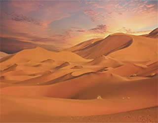 AOFOTO 9x7ft Desert Sand Dunes Backdrop Nature Red Sandy Sahara Arid Yellow Sands Landscape Background for Photography Expedition Adventure Themed Party Decoration Travel Photo Studio Props Vinyl