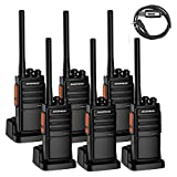 Walkie talkies,Baofeng BF-888S Plus Two Way Radio (Pack of 6) and USB Programming Cable (1PC)