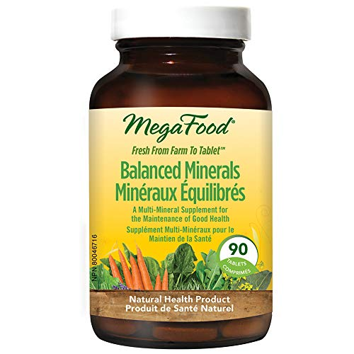 MegaFood - Minéraux équilibrés, un complément multiminéral pour le maintien d'une bonne santé, 90 pièces