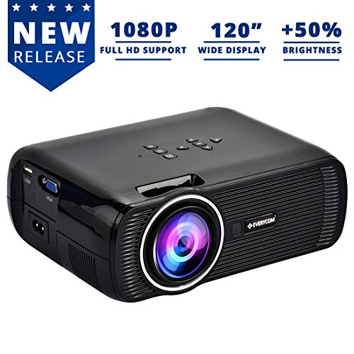 Everycom X7 LED Projector Full HD 1080P Supported, Compatible with Smartphone, TV...