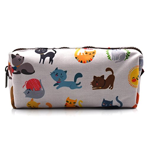 Cute Cat Pencil Case Pouch Teacher Gift Gadget Bag Make Up Case Cosmetic Bag