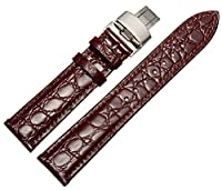ドットタウン 腕時計レザーベルト 革 カーフ ロンジン 取付タイプ 多数 Dバックル LB110-BR18 [並行輸入品]
