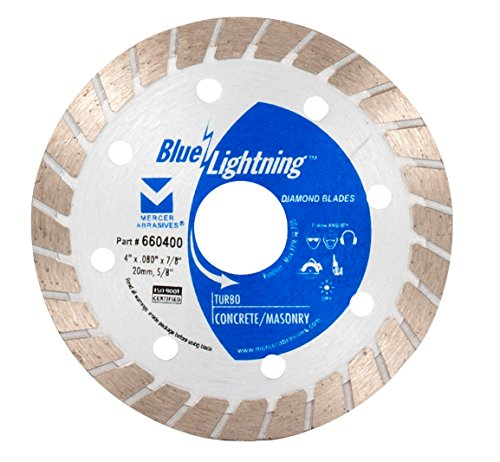 mercer abrasives 14 diamond blades Mercer Industries 660400 Blue Lightning Turbo Diamond Blade, 4-Inch