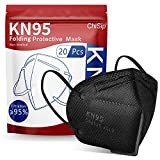 KN95 Face Mask 20 Pcs, 5-Ply Cup Dust Safety Masks, Breathable Protection Masks Against PM2.5 for Men & Women, Black