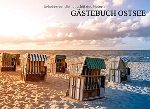 Gästebuch Ostsee: Gästebuch für deine Ferienwohnung, Pension, Hotel, 120 Seiten, Größe 8.25x6inches, Softcover, Motiv: Strandkörbe
