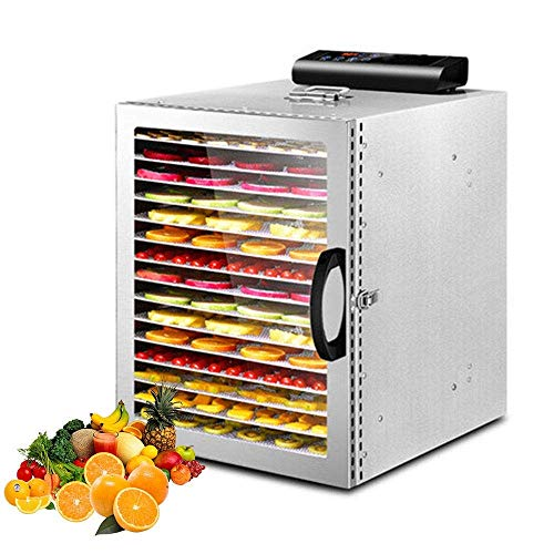 Great Features Of 16-Layers Household and Commercial Food Dehydrator,360° Uniform Drying, Microcomp...