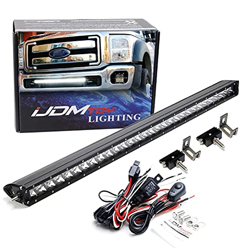 iJDMTOY Lower Grille Mount 30-Inch LED Light Bar Compatible with 2011-2016 Ford...