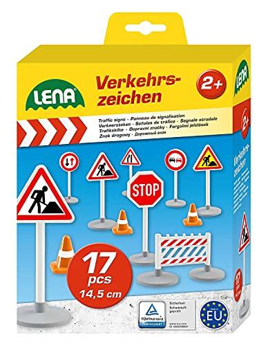 Lena 04440 - Verkehrszeichen Set mit 17...