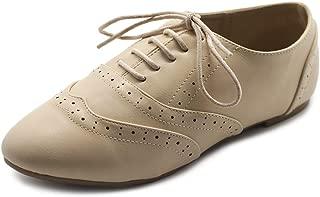 Women's Shoe Classic Lace Up Dress Low Flat Heel Oxford