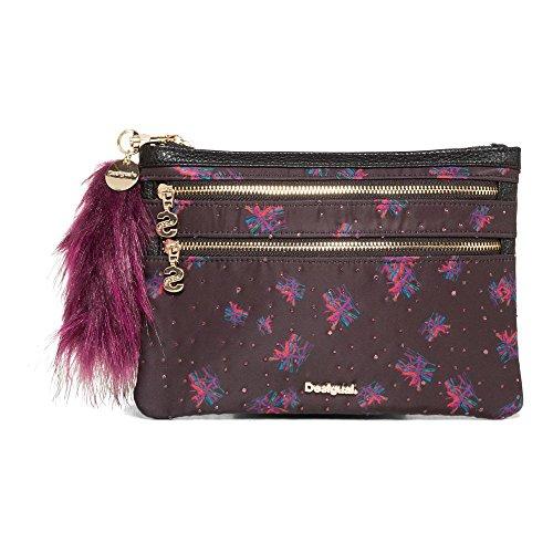 Desigual Mone Multi Zip Bloomstar Clutch Tasche 21 cm