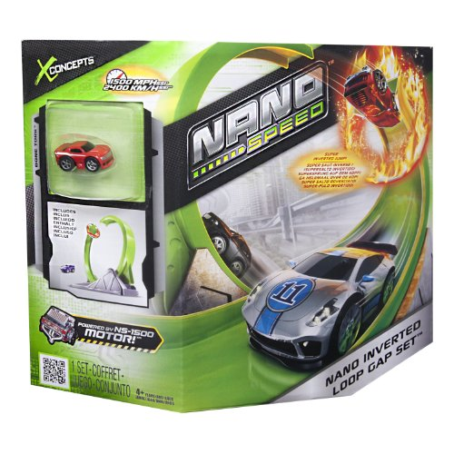 Nano Speed - 6019617 - Véhicule Miniature et Circuit - Coffret Air Loop - Nano Speed Pack de 1