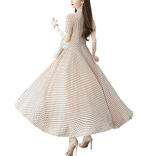 ilovgirl Ufficio Signora Vestito con Oro Vintage Paisley Stampa Lungo Manica Pulsante Vita Cravatta...