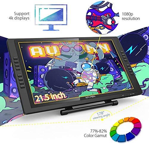 XP-Pen 22E Pro Tableta Digital de Dibujo Gráfico HD IPS Monitor con Teclas Express y Soporte Ajustable Viene con el Último Software de Dibujo de OpenCanvas 7 o ArtRage 5