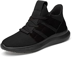 MYHYZZ-Athletic Shoes Athletic Shoes for Men Sports Shoes Lace up Style Knittimg Mesh Material Breathable Light Hidden Increase High Heel Men's Casual Shoes