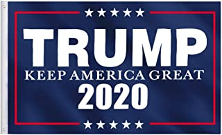 Jetlifee 3x5 Feet Donald Trump Flag 2020 - Brass Grommets and Canvas Header 100% Polyester Keep America Great Flag Vivid Color and UV Protected for Outdoor and Indoor 3 X 5 Ft