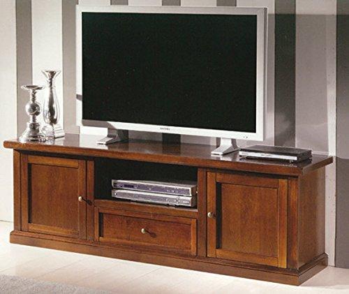 ZeroDueZero - Porta TV 2 porte 1 cassetto Arte Povera tinta Noce - L. 160 P. 46 H. 56