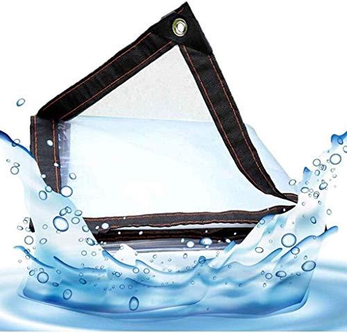 Glass Clear Tarpaulin Water Blocking Balcony Waterproof Cloth Waterproof Curtain Transparent Plastic Fleshy House Windproof Outdoor Edging (Size : 4x10m)