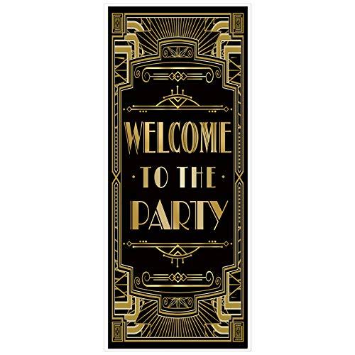 musykrafties el Rugir 1920s Gatsby Temática Fiesta Cubierta de Puerta 72x30 - Bienvenido a la Fiesta