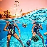 Lot de 2 Boules de pastèque, boules d'eau pastèque d'été, Binghai Jouet de piscine pour jeux sous-marins, Ballon multifonction pour piscine, football, basket-ball et rugby pour jouer dans l'eau.