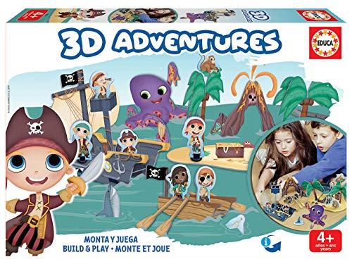 Educa Borrás-3D Adventures Playset, construye tu Universo 3
