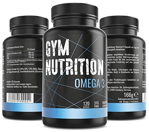 Omega 3 Kapseln - hochdosiert | 120 reine Fischölkapseln aus Anchovy gewonnen mit EPA & DHA in Triglycerid-Form | Natürliches Fischöl ohne Gentechnik | Aus essentiellen Fish Oil Fettsäuren