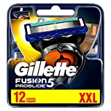 Gillette Fusion 5 ProGlide Lames de rasoir avec tondeuse pour précision et revêtement lubrifiant 12 lames de rechange