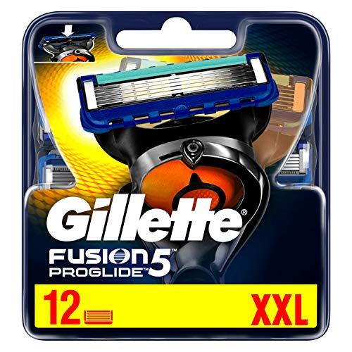 Gillette Fusion 5 ProGlide Lot de 12 lames de rasoir avec lame de rasoir pour précision et revêtement lisse