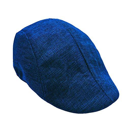 SEWORLD Heißer Einzigartiges Unisex Sommer Visier Hut Sunhat Mesh Lauf Sport Casual Atmungs Beret Flache Kappe Männer Damen Mütze Hut(Blau)