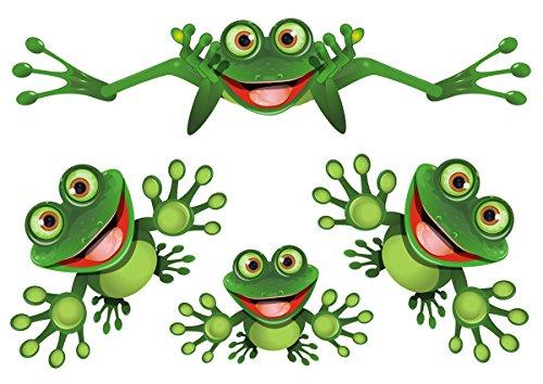 Lustiger Frosch - Funny Frog - Autoaufkleber - Funny Frog Set 02