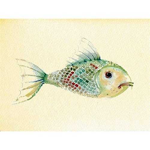 Lazodaer - Kit de pintura de diamante para niños, adultos, decoración de la habitación del hogar, oficina, regalos para ella, hermoso pez 01 15.7 x 11.8 pulgadas
