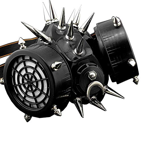 Spike Rivet Steampunk Masquerade Gas Face Mask Cosplay Costume Party
