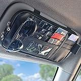 EcoNour Car Visor Organizer | Interior Car Accessories | Sunglasses Holder for Car | Tactical Truck Visor Organizer | Car Visor Organizer with Velcro Straps | Travel Accessories | Roadtrip Essential