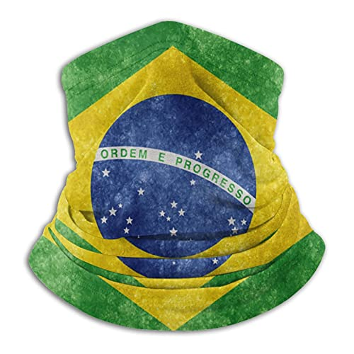 Bandiera Nazionale del Brasile Ciclismo Sciarpa Protezione UV Collo Ghetta Sciarpa Copertura Viso Mezza Faccia Bandane
