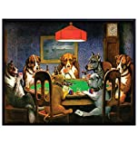 Dogs Playing Cards - Unframed Wall Art Print - Great Home Decor for Game Room or Man Cave - Awesome Gift For Animal Lovers - Ready to Frame (8X10) Photo
