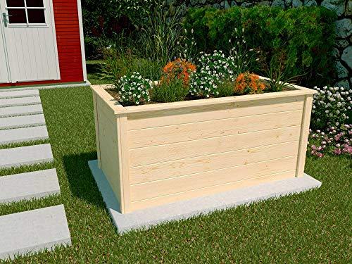 Weka Hochbeet Natur 139x78x70cm Blumenkasten Pflanzkasten Gemüsebeet Frühbeet