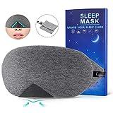 Schlafmaske Baumwoll Fraue und Herren,Chnaivy 2019 Neue Design Premium Augenmaske Nachtmaske,100% Hautfreundlich Cotton Schlafbrille,Super weich und bequem,für Reisen,Schlaf und...